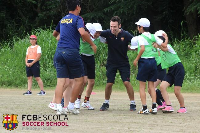 真崎小学校 バルセロナスクール訪問サッカー教室